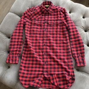 Ralph Lauren Rugby buffalo check flannel tunic